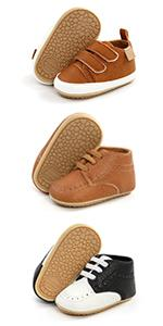 Baby Boys Girls Canvas Sneakers Toddler Anti-Slip Shoes Infant High-top First Walkers Newborn Shoes