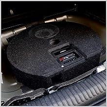 ATB20FRX Aktivsubwoofer: Einbau in die Reserveradwanne des Audi A3