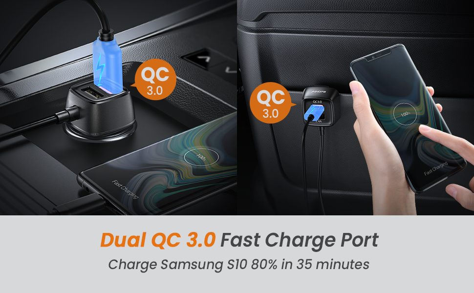 QC 3.0 car charger fast charge