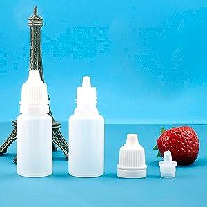 50 PCS Plastic Dropper Bottles For Solvents, Light Oils, Essences, Eye Drops, And Other Liquids