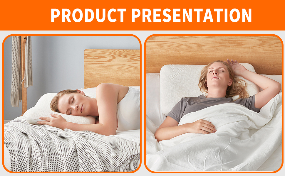 Foam Pillow for Stomach and Back Sleepers