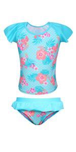 Girls Ruffle Swimsuit Ruffle Skirt