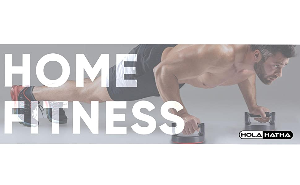 Holahatha Exercise Fitness Strength Building Non Slip Rotating Push Up Handles