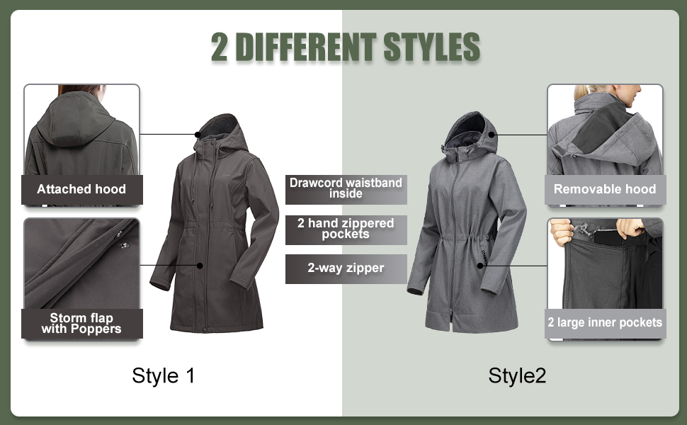 2 jackets of different styles