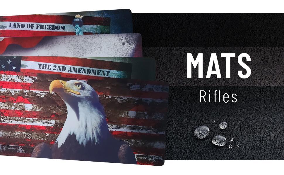 American design pad gun maintenance mat anti-slip solvent resistant rifle