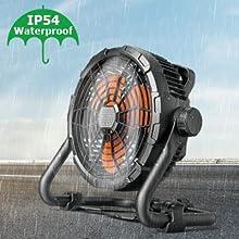 Floor Fan 15600mAh Battery Operated Outdoor Fan 8
