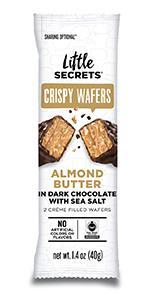 Little Secrets Dark Chocolate, Almond Butter amp; Sea Salt Crispy Wafers