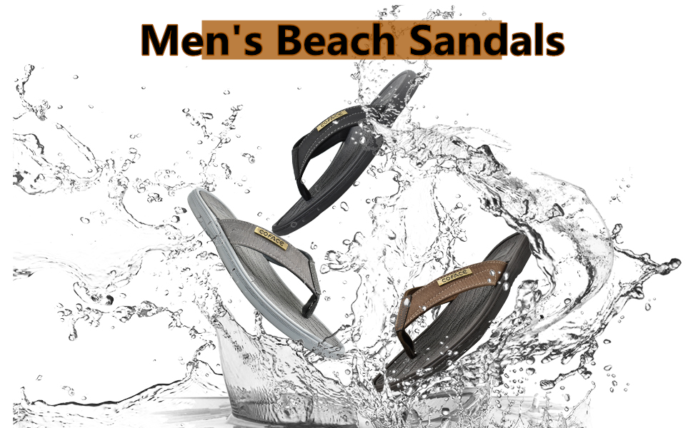 mens beach pool flip flops summer sandals thong slippers