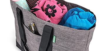 carry all tote bag filled with workout gear