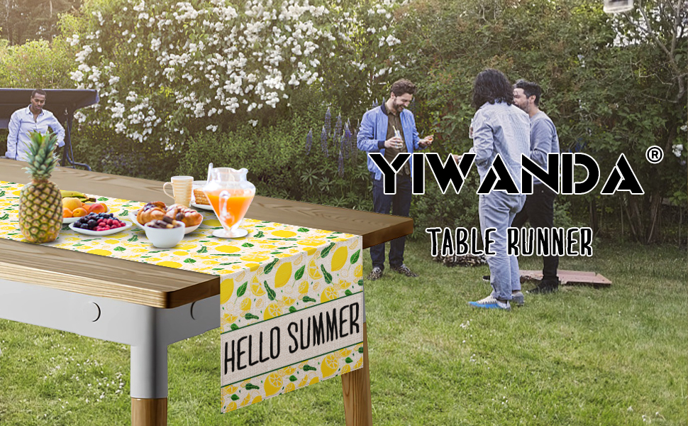YIWANDA Seasonal Spring Summer Table Runner