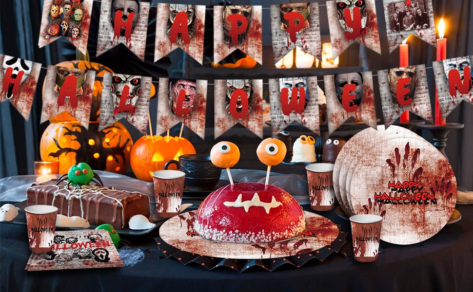 Horror Movie Halloween Party Decor Set