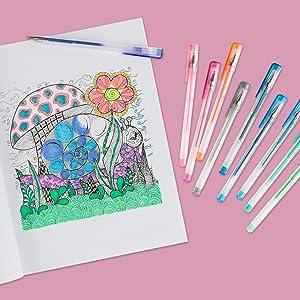 creative inspiration gel pens beauty shot coloring book