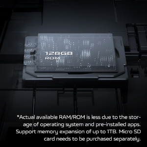 128GB Storage, Expandable Up to 1TB