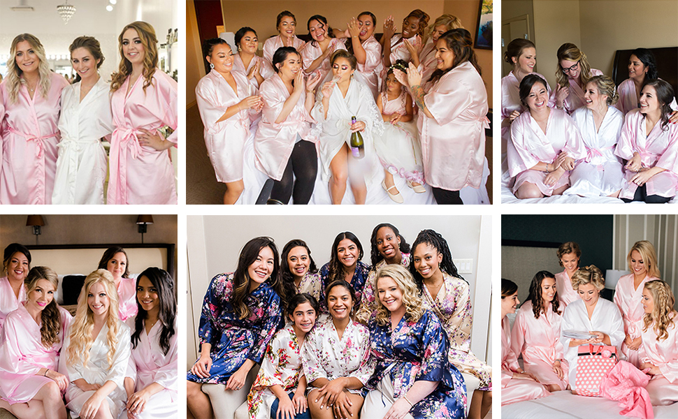 satin robes for bridesmaid robes for wedding party robes bridal robes silk robes summer robes