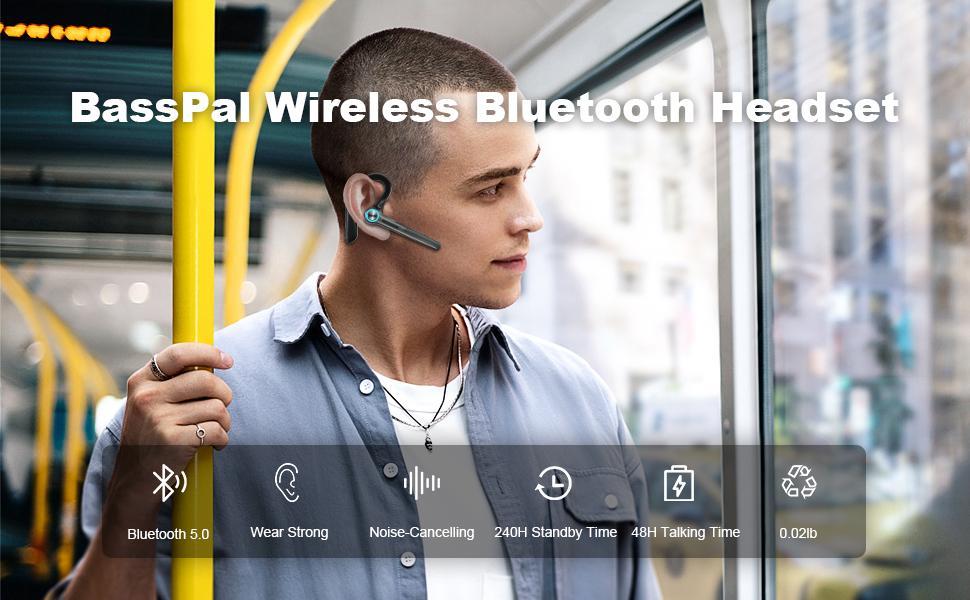 BassPal Wireless Bluetooth Headset