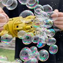 Gatling Bubble Gun Automatic Bubble Machine for Kids Toddlers & Adults The Latest Styles in 2021