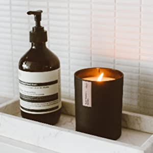 black matte tumbler candle for home scented candle for him