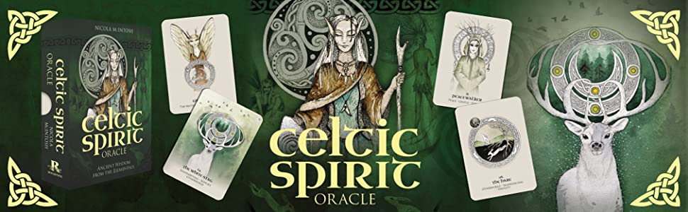 celtic spitit oracle 3d box on the left and deer on right