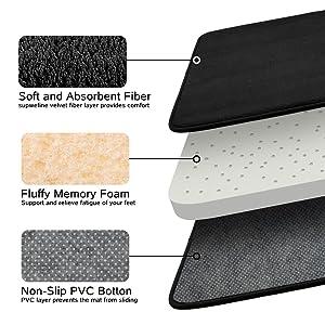 memory foam bathroom rug strong