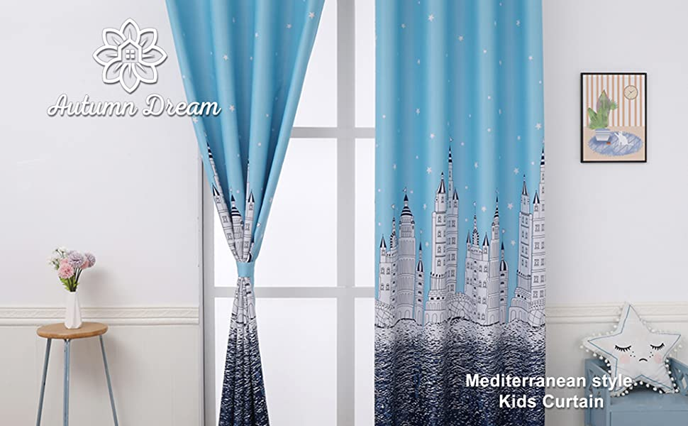 curtain drapes panels kids blackout curtains blue star curtain for bedroom nursery kids room