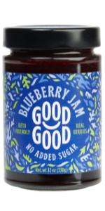 keto diabetes no added sugar natural blueberry jam