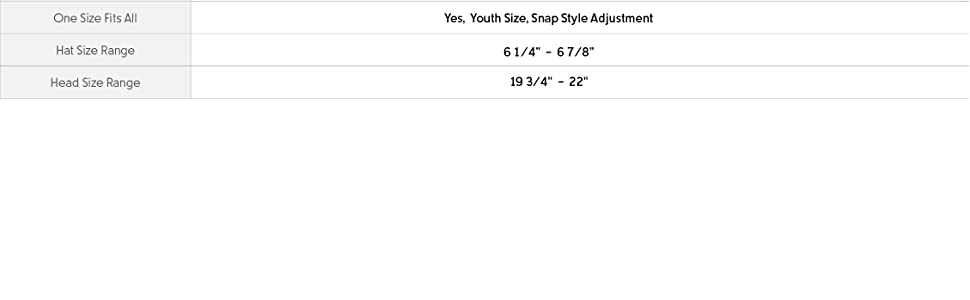 Youth hat size and fit guide