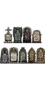 9 Pcs Tombstone Yard Signs