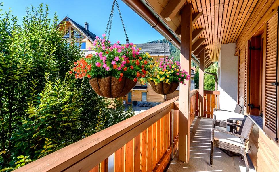 artificial flowers for hanging planter