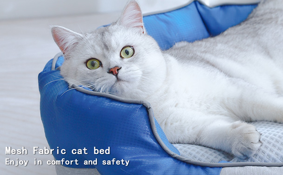 Mesh Fabric cat bed, Enjoy in comfort and safety.