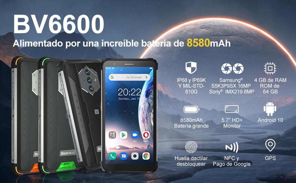 Teléfono resistente Blackview 6600