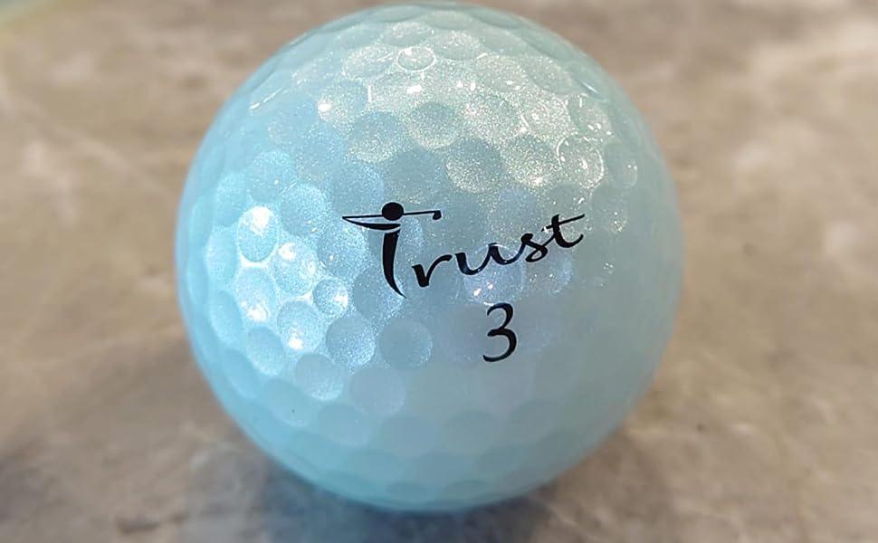 Trust Crystal Urethane Golf Ball- Icy Blue