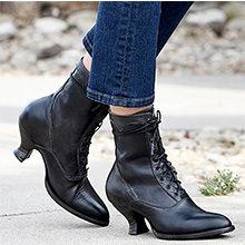 black boots for women pointed toe mid calf boots