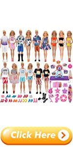 EuTengHao 78Pcs Doll Clothes and Accessories for 11.5 Inch Girl Doll and 12 Inch Boy Doll