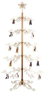 Metal Christmas Ornament Display Tree Stand