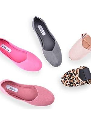 knit ballet flats shoes