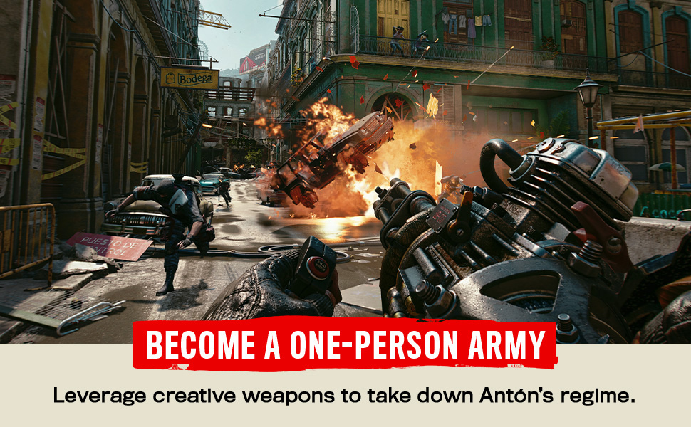 Leverage creative weapons to take down Anton's regime