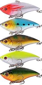 5pcs VIB Fishing Baits