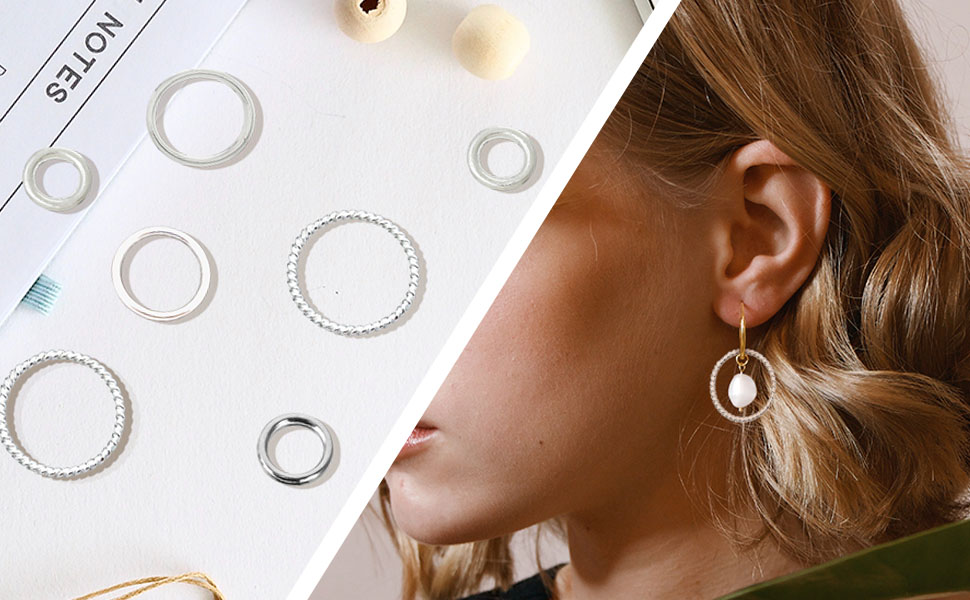 Silver Color Closed Jump Rings