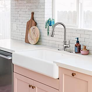 Peppermint Kitchen Faucet Pull Down Commercial Modern Single Hole