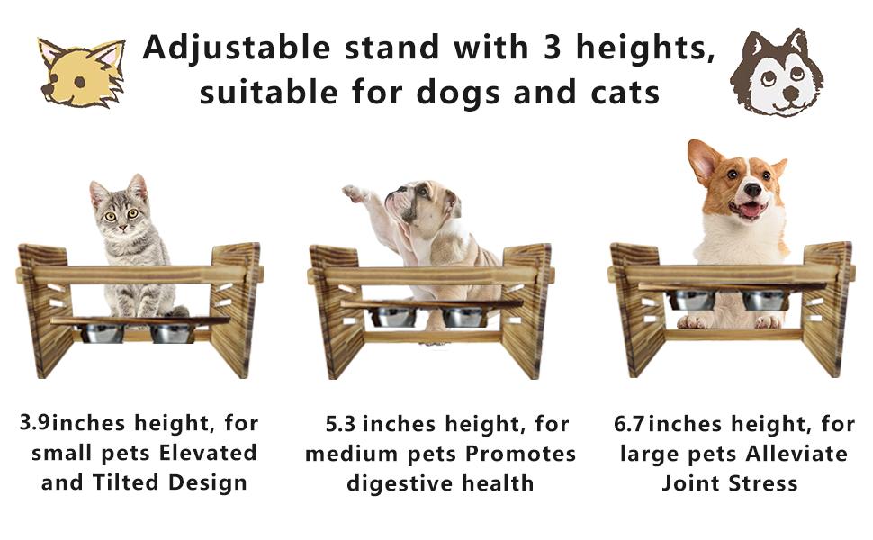 Waterproof Pine Wood Dog Cat Pet Bowls