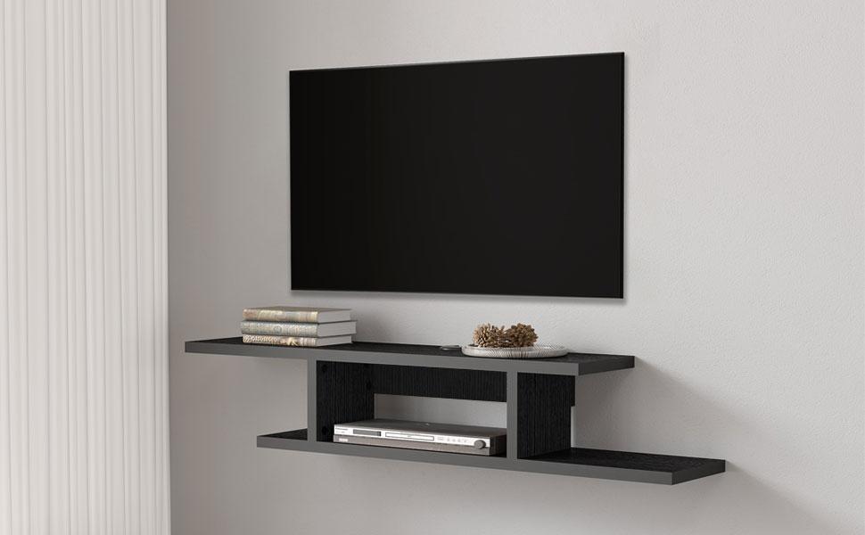 media shelf floating entertainment center floating tv stand floating tv shelf DS211801WB