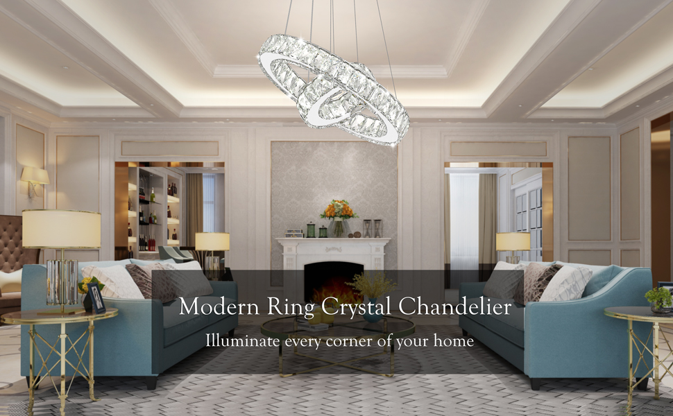Contemporary 2 Rings Pendant Light Fixtures