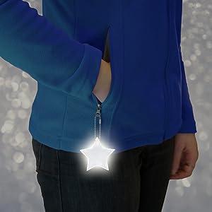 Hang reflectors on jacket zipper pulls