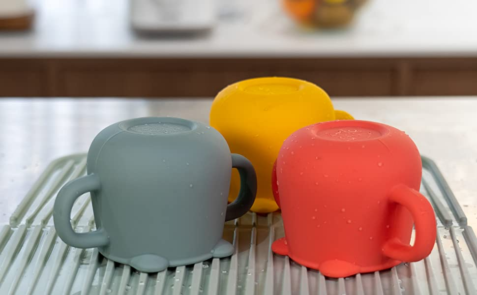 Blue Ginkgo Toddler Cups