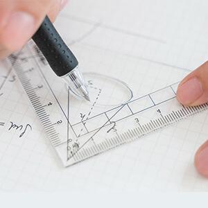 Straightedge/Triangle Ruler Set