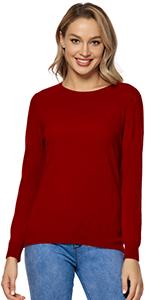 Womenamp;#39;s 100% Pure Wool Red Sweater