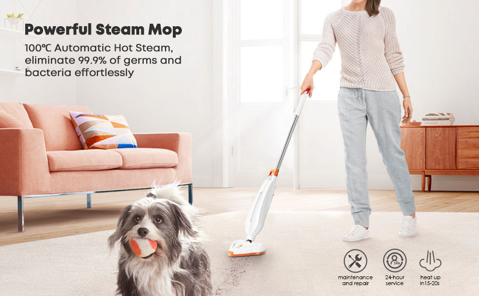 Powerful steam  mop with automatic hot steam