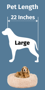 Large Calming Dog Bed