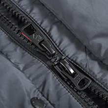 Resin zipper, anti-scratch fingers, more suitable for winter