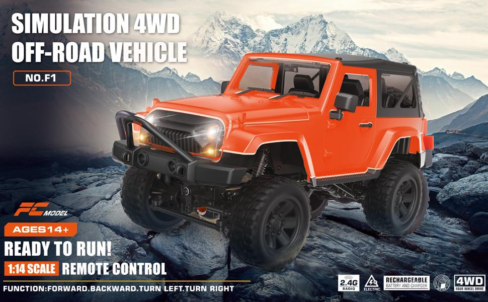 rc car rc cars remote control car 1:14 rc monster truck electric DEERC vehicles toys for kids